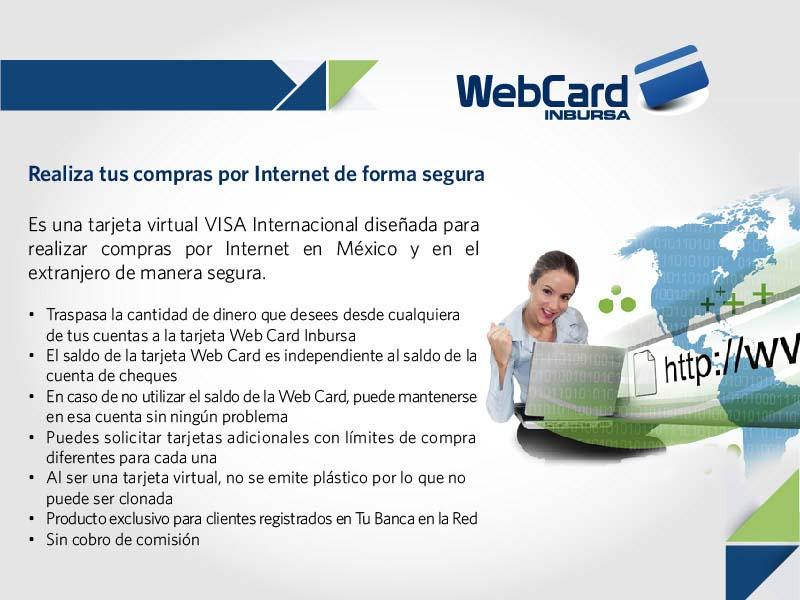 Tarjeta virtual para compras en Internet