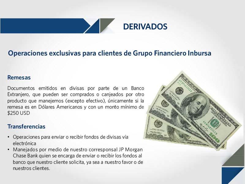Servicios derivados: remesas y transferencias electrónicas