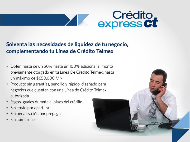 Crédito empresarial, complemento de Línea de Crédito Telmex