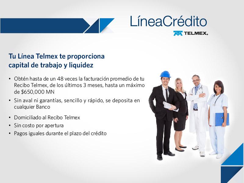 Línea de crédito Telmex