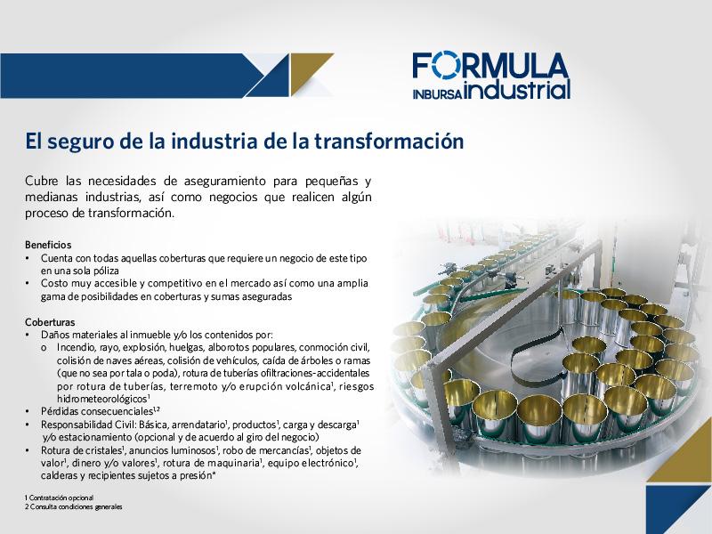 Protección a la industria transformadora