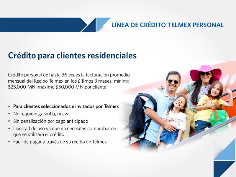 Telmex Te Ofrece Tu L 237 Nea De Cr 233 Dito Personal Measured Risk