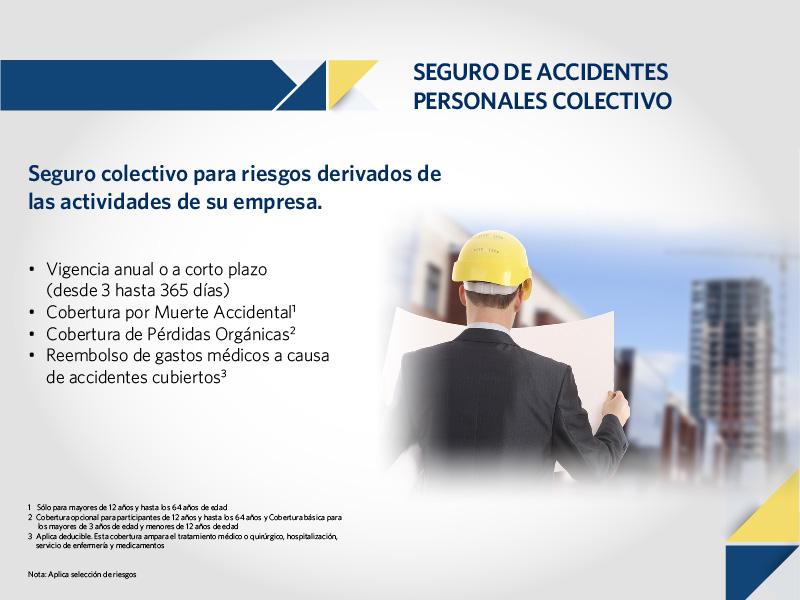 Seguro colectivo de accidentes personales
