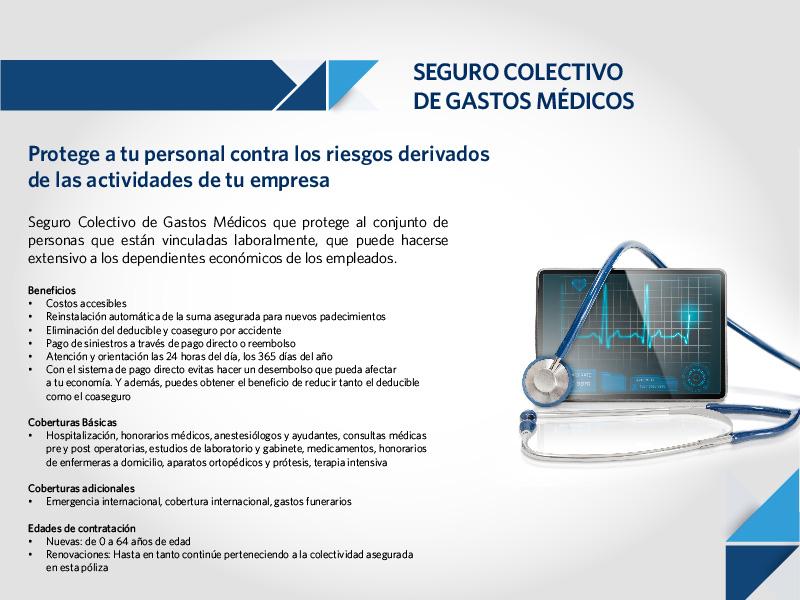 Seguro de gastos médicos (colectivo)